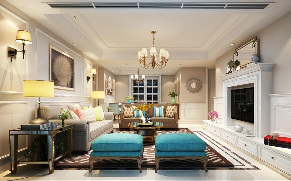 3室1卫1厅138平米美式风格