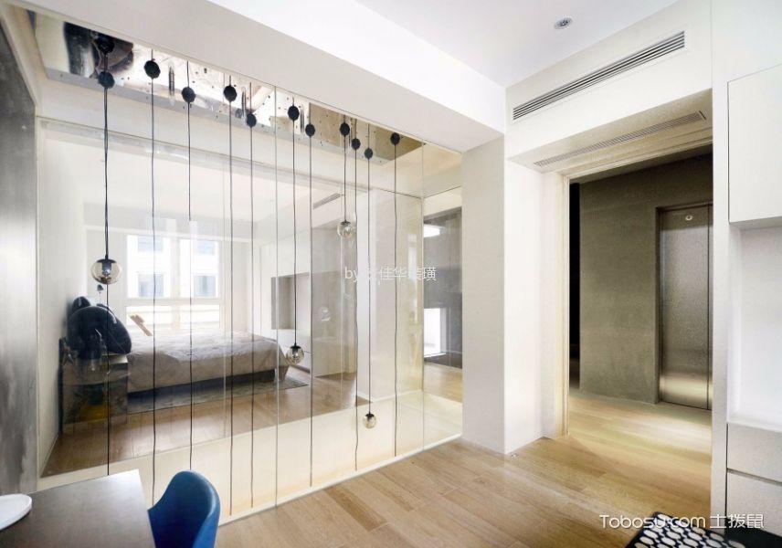 卧室米色走廊现代简约风格装修图片