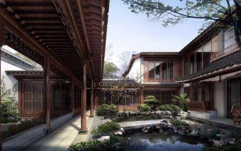 古建园林设计中式装修效果图