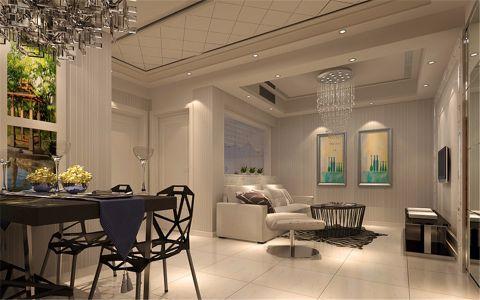2018现代简约120平米装修效果图片 2018现代简约三居室装修设计图片