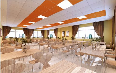 企业餐厅装修效果图