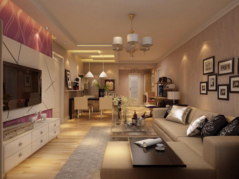 1室1卫1厅60平米现代简约风格