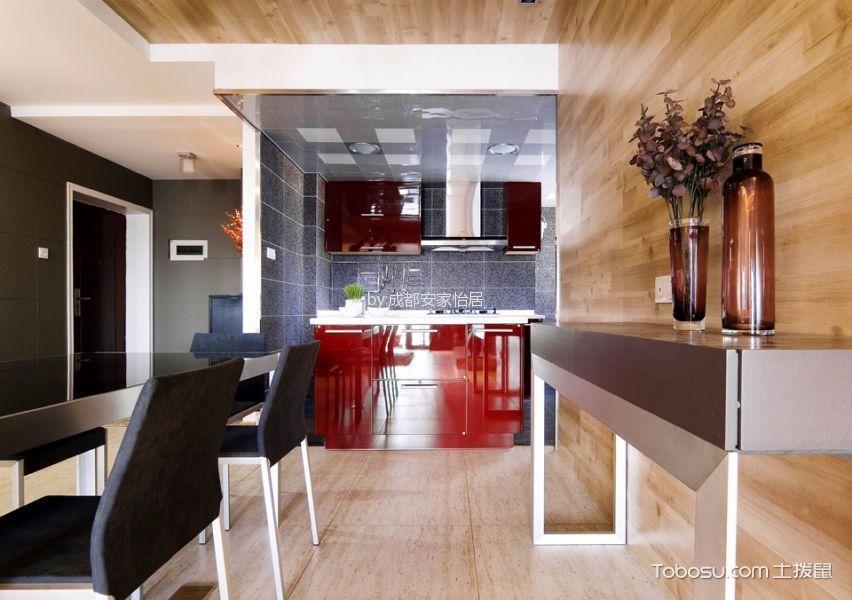 厨房红色橱柜日式风格效果图