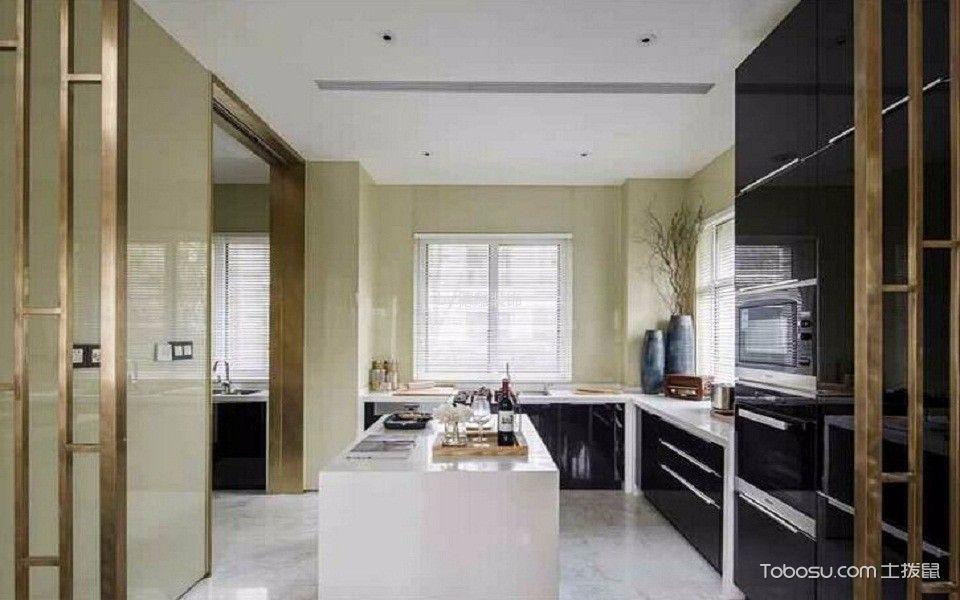 厨房黑色橱柜日式风格效果图