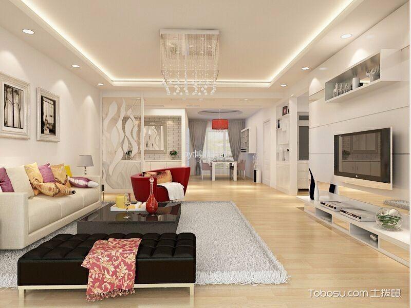 台湾村小区现代简约风格两居室装修效果图