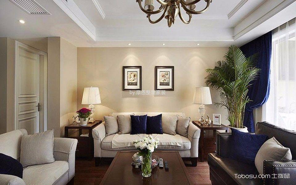 雅居乐三居室美式风格效果图