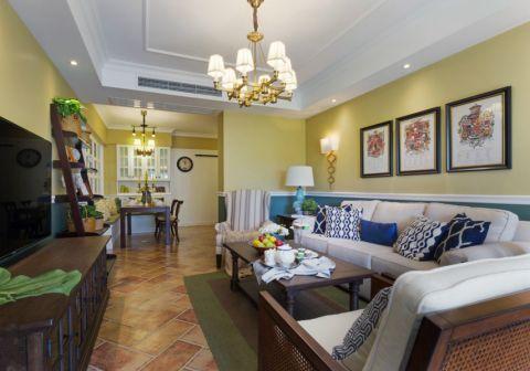 2021美式110平米装修图片 2021美式二居室装修设计