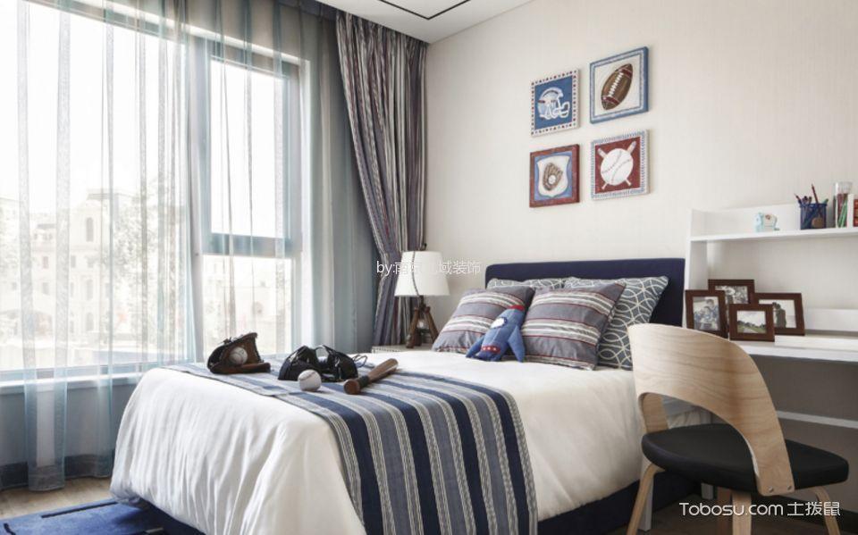 儿童房灰色窗帘新中式风格装潢图片