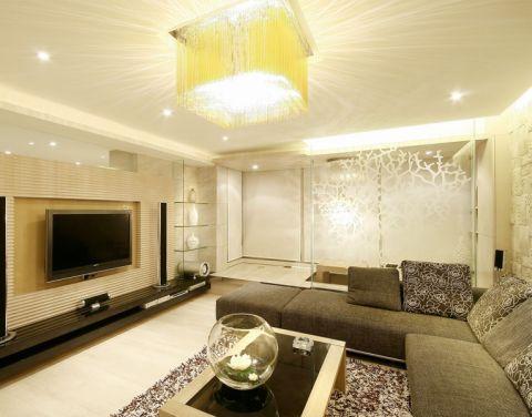 龙涛紫群现代简约风格两室一厅装修案例图