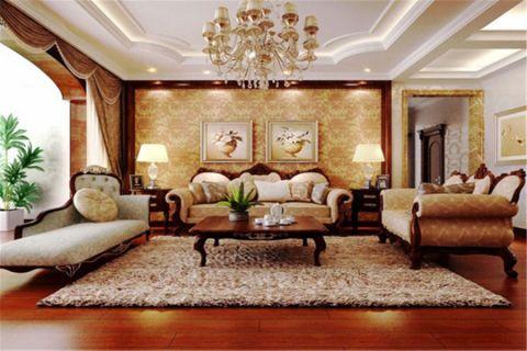 2021美式110平米装修图片 2021美式公寓装修设计