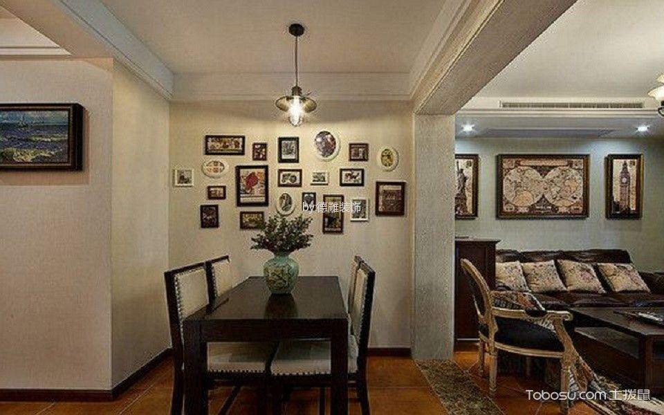 餐厅黄色照片墙美式风格装修图片