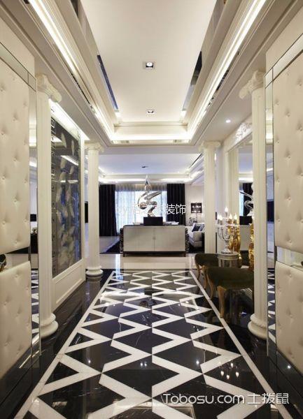 玄关白色吊顶新古典风格装潢设计图片