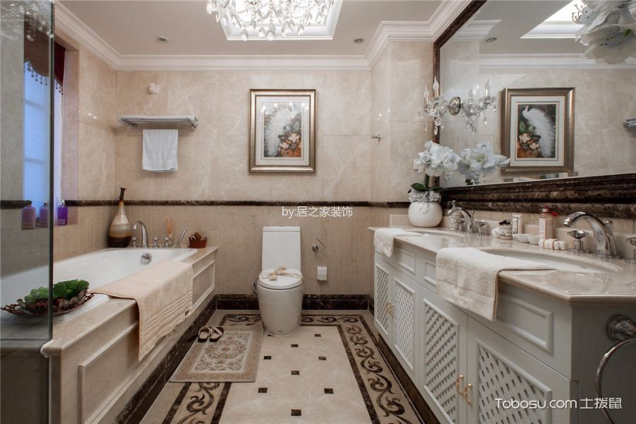 2020欧式卫生间装修图片 2020欧式洗漱台装修设计图片