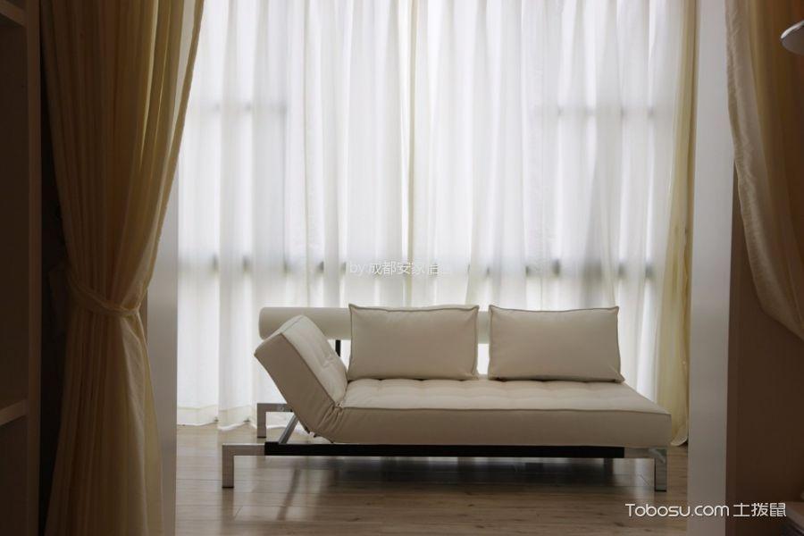 阳台白色窗帘现代风格装修效果图