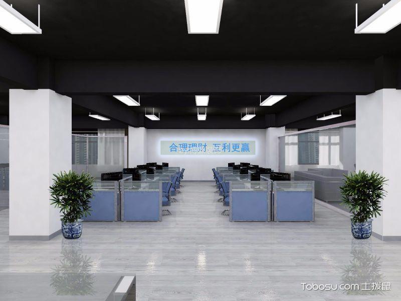 汇丰广场现代办公室装修效果图