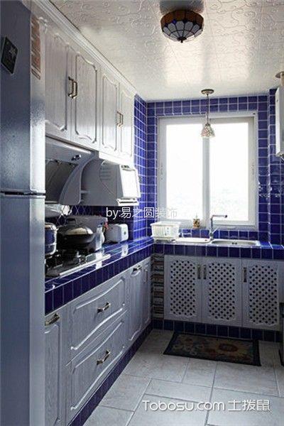 潮流地中海蓝色背景墙案例图片