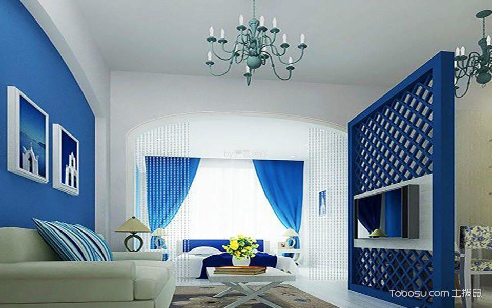 花溪地地中海风格二居室装修效果图