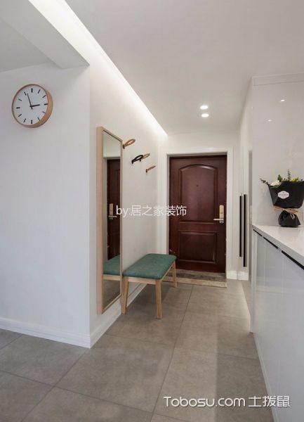 玄关灰色走廊北欧风格装饰设计图片