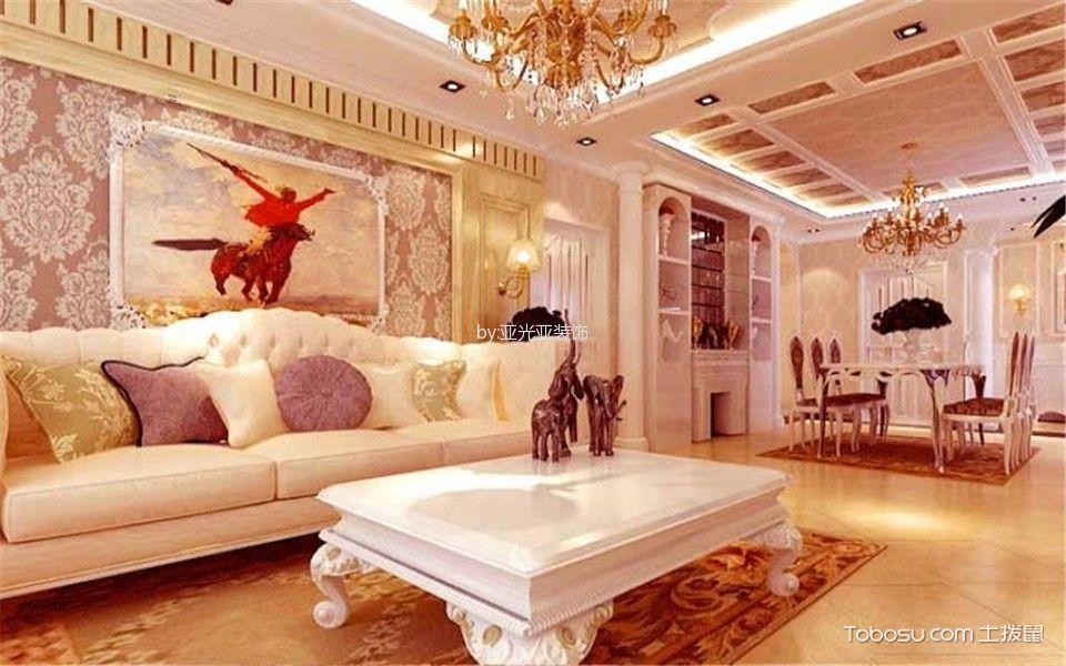 香山别墅320平欧式风格装修效果图