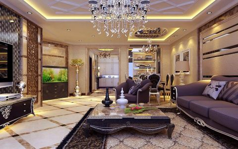 怡然家园简欧风格装修设计效果图