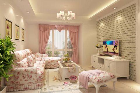 南城印象两居室韩式风格效果图