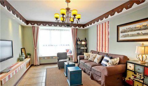 2020美式90平米效果图 2020美式三居室装修设计图片