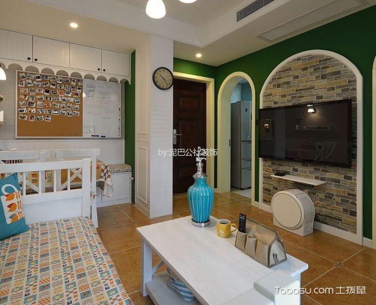 地中海客厅背景墙装潢图片