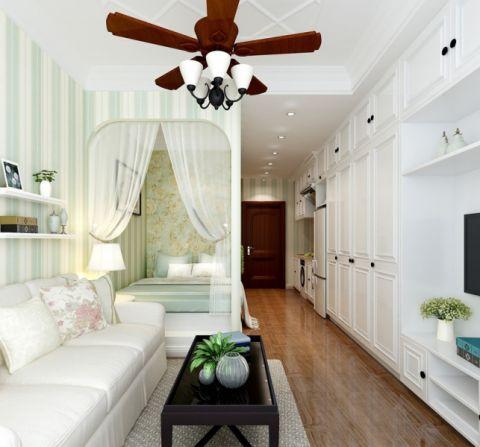 新长海广场30平小公寓田园风格装修效果图
