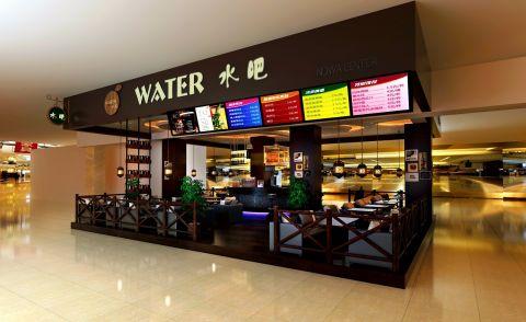 商场水吧饮品店装修效果图