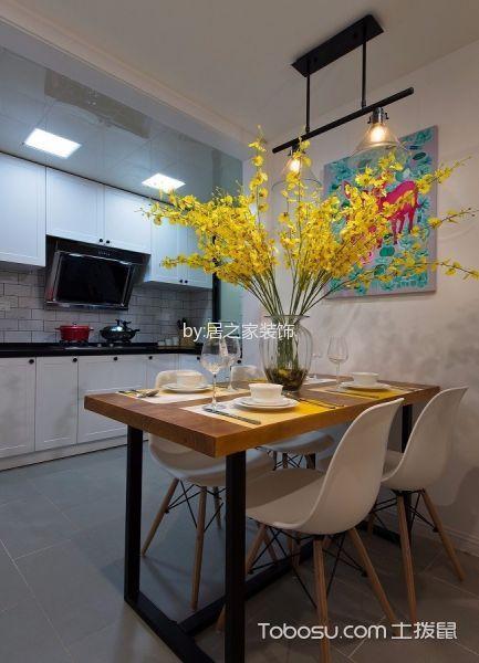 餐厅灰色地砖现代风格装饰图片