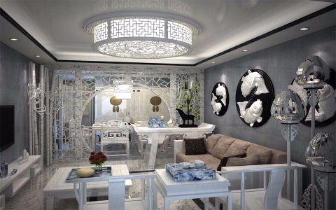 新中式风格143平米大户型室内装修效果图