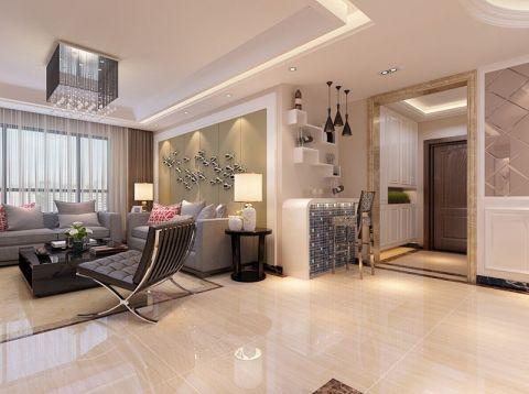 客厅简约风格装潢图片