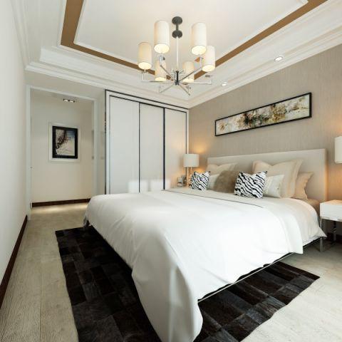 紫晶悦城130平三居室时尚简约风格效果图