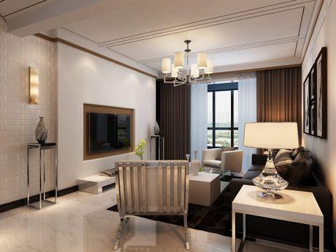 客厅窗帘现代简约风格装潢设计图片