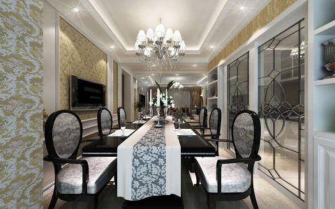 餐厅吧台简欧风格装潢图片