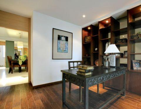 书房博古架东南亚风格装饰设计图片