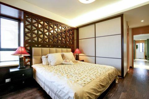 卧室背景墙东南亚风格装潢设计图片
