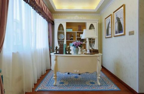 书房窗帘洛可可风格效果图
