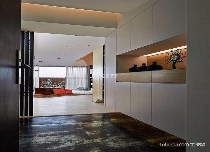 玄关白色鞋柜现代简约风格装潢效果图