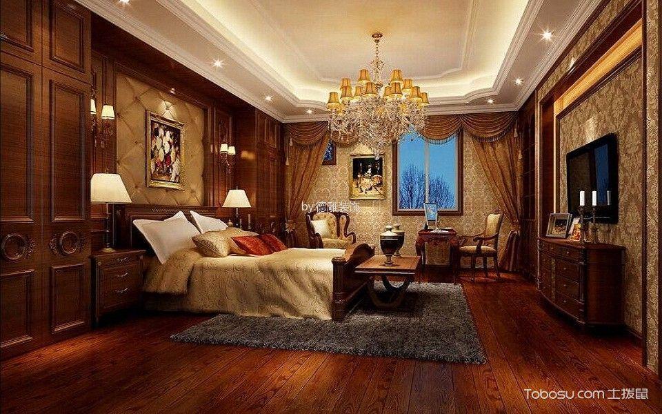 卧室红色电视柜欧式风格装饰图片