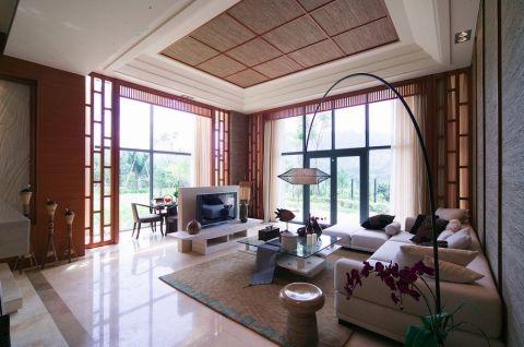 120平错层别墅南亚巴厘岛风格效果图