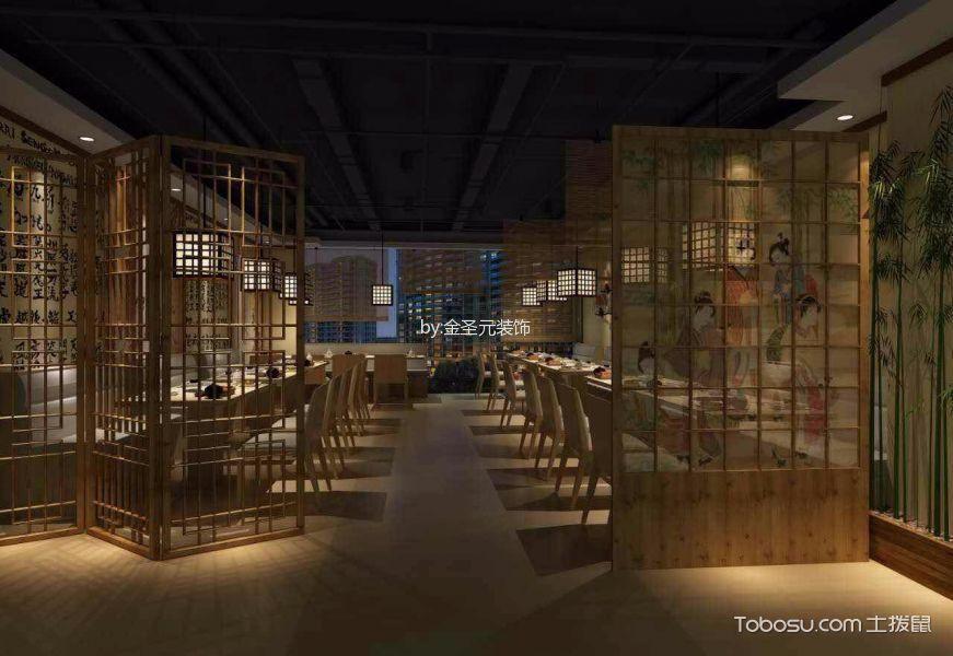 日本料理店餐厅装饰实景图