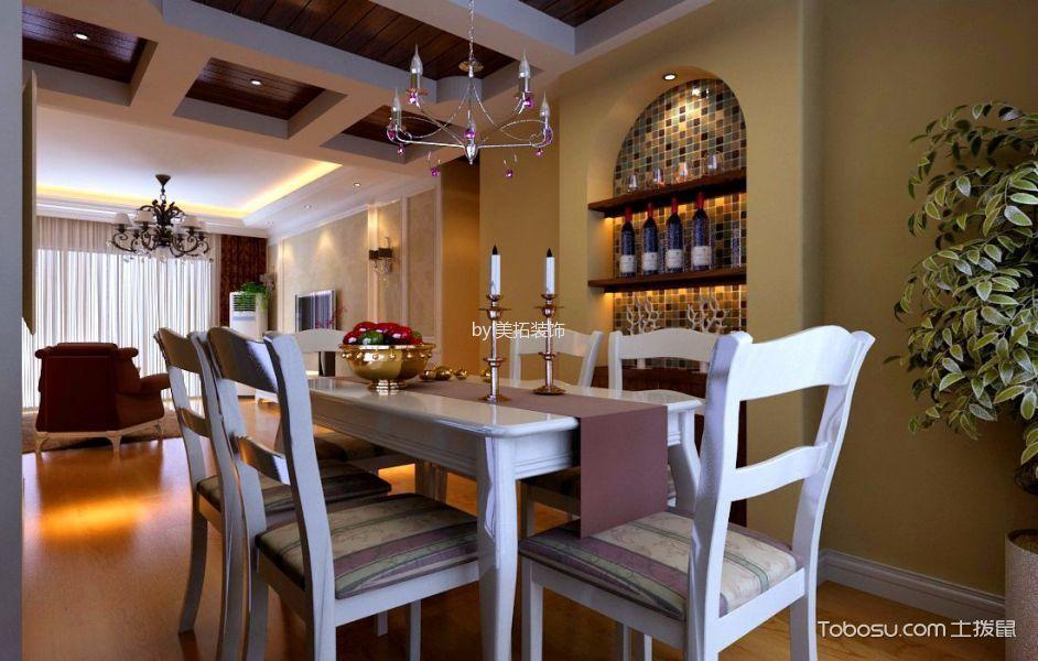 2020田园餐厅效果图 2020田园博古架装修设计图片