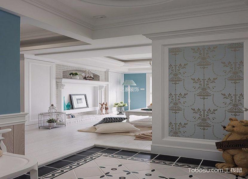 客厅白色地板砖地中海风格装饰图片