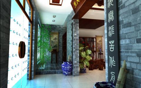 东莞市岭南书画院中式画廊展厅装修效果图