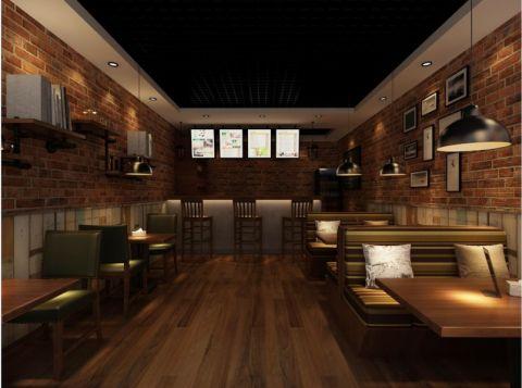 休闲咖啡厅美式复古装修效果图