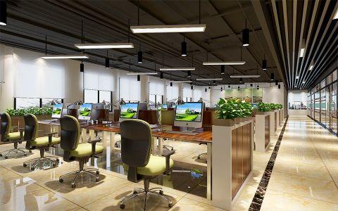 1500平方安徽四维环境工程有限公司办公室装修效果图