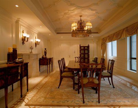 新濠润境欧式三室一厅装修风格