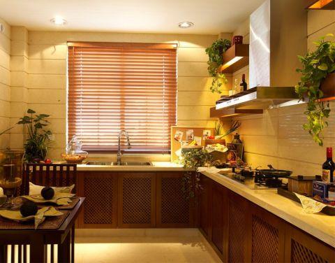 天润国际花园东南亚风格三室一厅装修案例