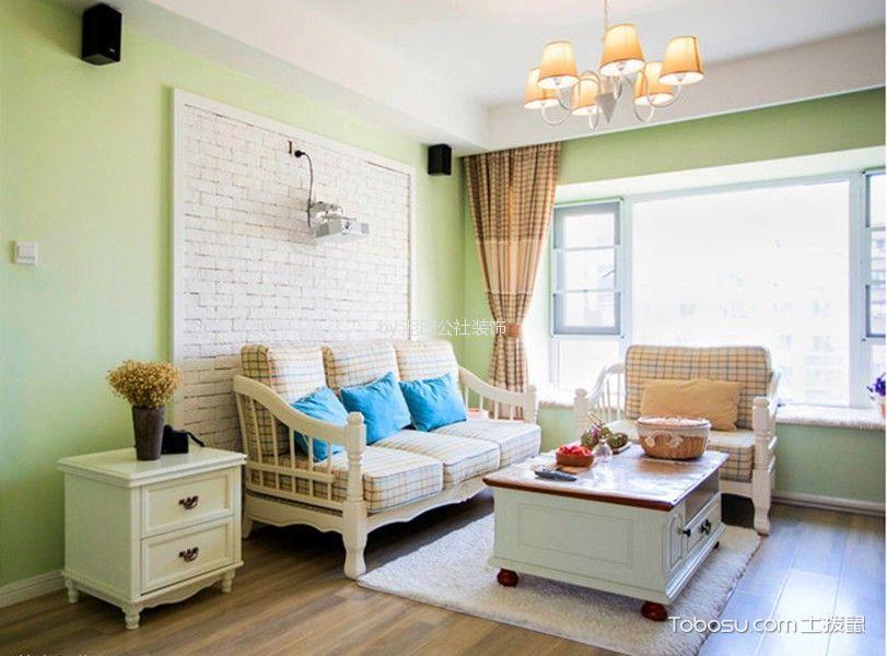 恒大御景湾90平两居室韩式田园风格效果图